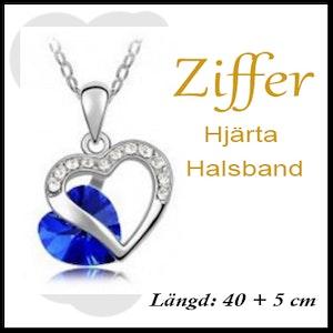 Hjärta Blå/silver från Ziffer