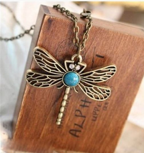 Trollslända - Halsband,bronsfärgad