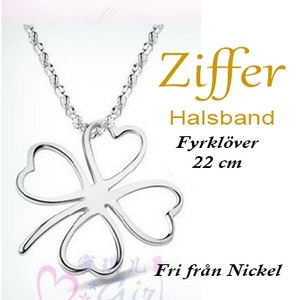Fyrklöver-silverfärgat Ziffer