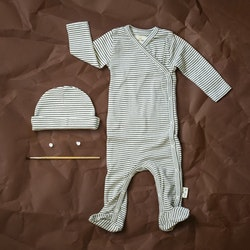NEWBORN CLOTHING SET - GREEN/WHITE