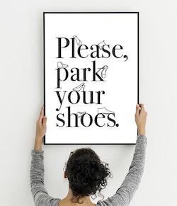 Please park your shoes