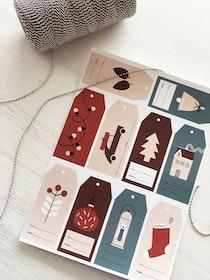 Ark med juletiketter 2019