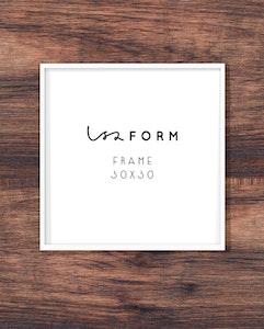 White frame 30x30 cm