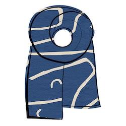 Halsduk Hazel blå