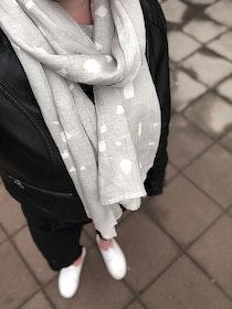 Halsduk Terrazzo grå