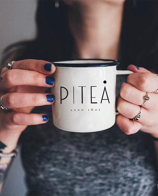 Piteå anno 1621 enamel mug