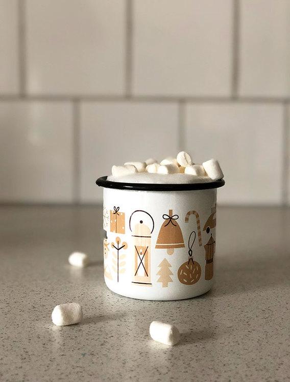 Wonderland enamel mug