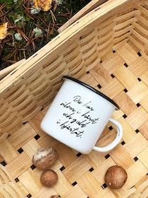 Gold enamel mug