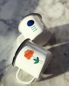 Cloudberry enamel mug