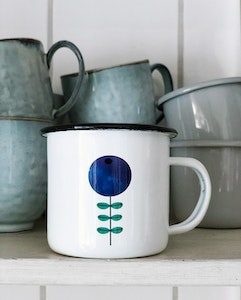 Blueberry enamel mug