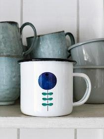 Blueberry enamel mug