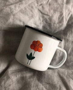 Cloudberry enamel mug