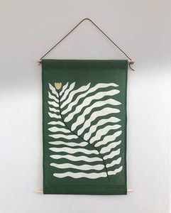 Tulip green wall tapestry