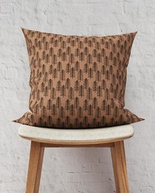 Barra brown linen cushion