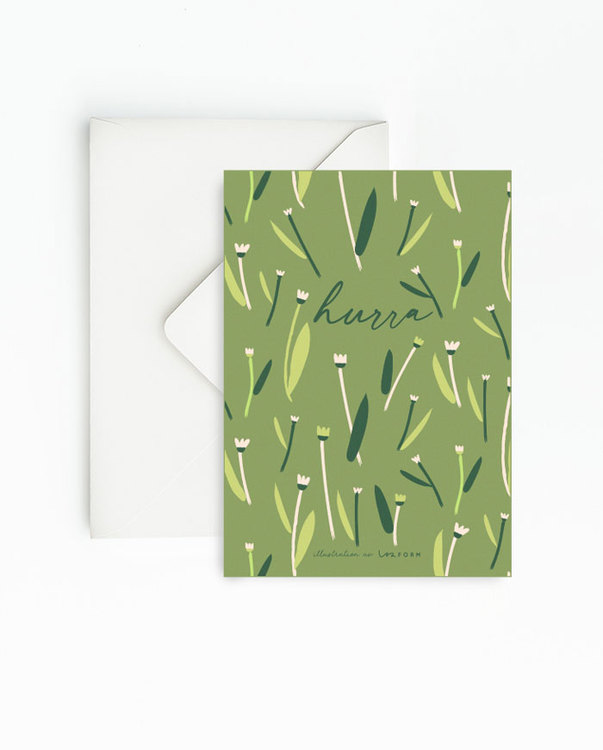 Green set of 4 cards