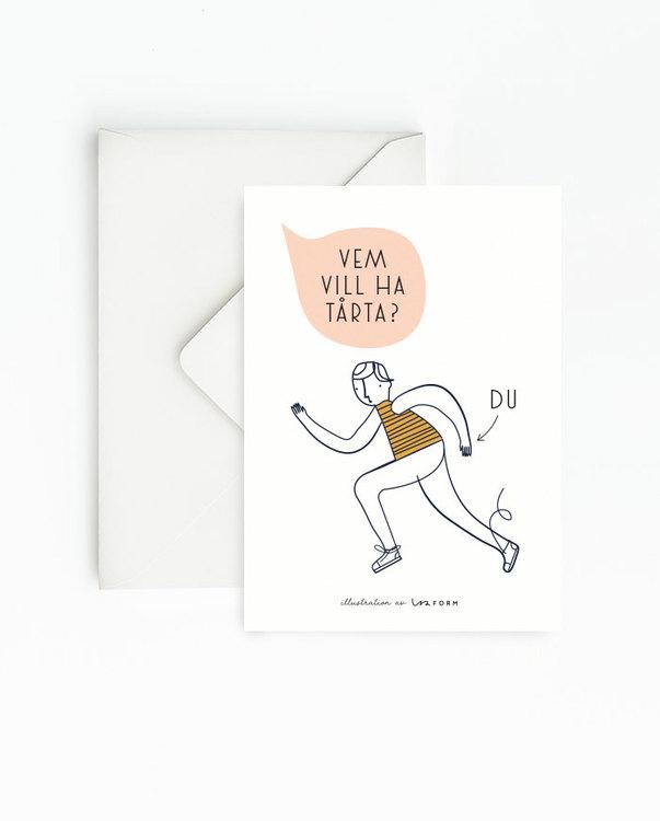 Gul 4-pack kort
