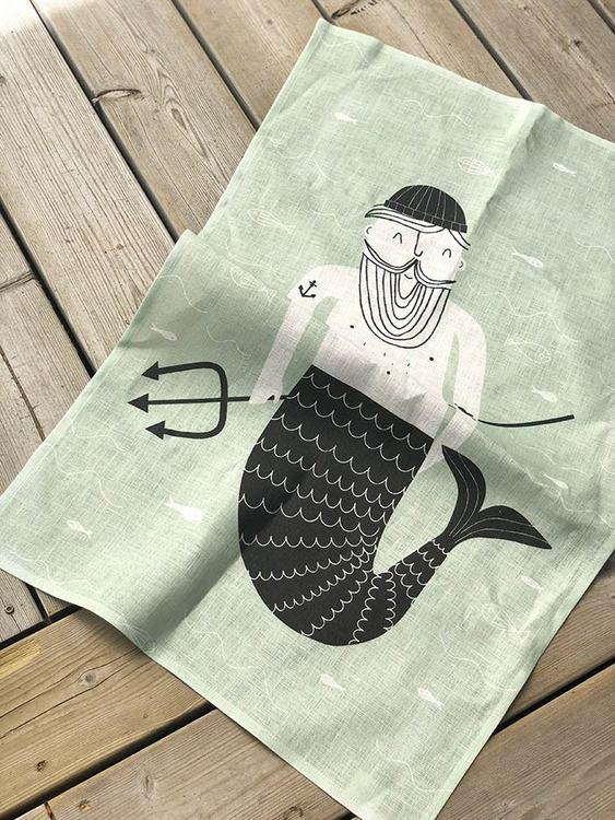 Merman kitchen towel