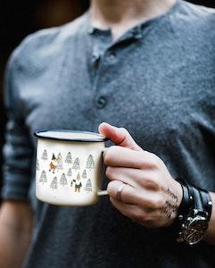 Tipp tapp enamel mug