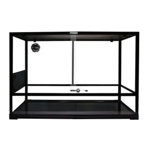 Glass Terrarium Flat Packed 60x45x45cm Black