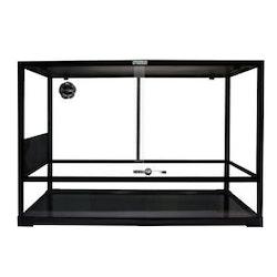 Glass Terrarium Flat Packed 60x45x60cm Black
