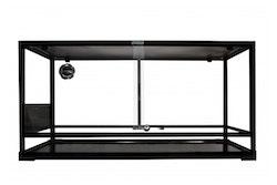 Glass Terrarium Flat Packed 90x45x45cm Black