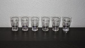 6 st vatten/selterglas från Skruf