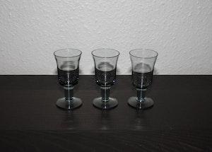 3 Stora snapsglas från Åfors - Bertil Vallien