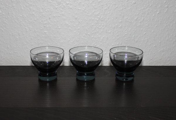 3 små kupglas från Åfors - Bertil Vallien