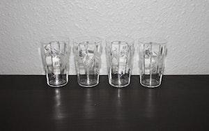 4st slipade vattenglas