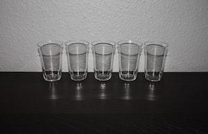 5st vattenglas med slipad kant