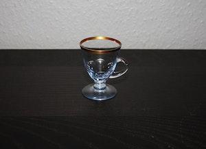 Glögglas med guldkant