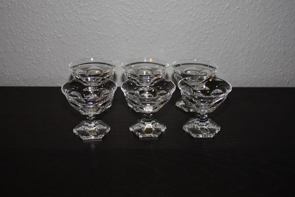 6st likörkupor i Kristall - Kosta modell Rosersberg - Elis Bergh