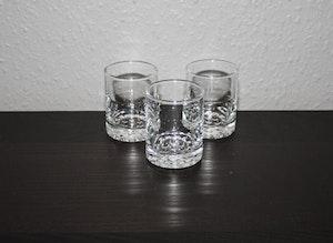 3st små whiskyglas