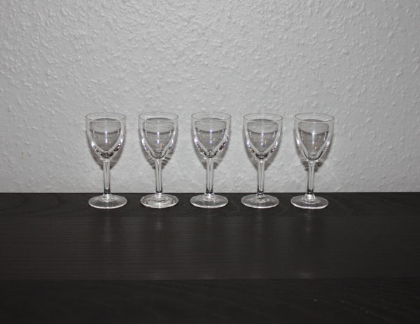 5 st snapsglas