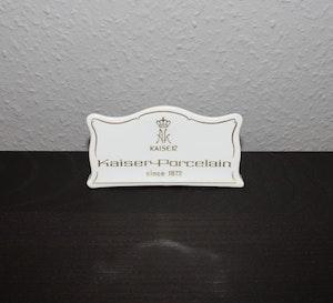 Varumärkesskylt Kaiser Porcelain