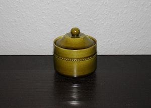 Sockerskål med lock från Old Höganäs - gröna serien