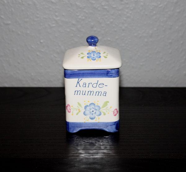 4kantig Kryddburk med lock för Kardemumma