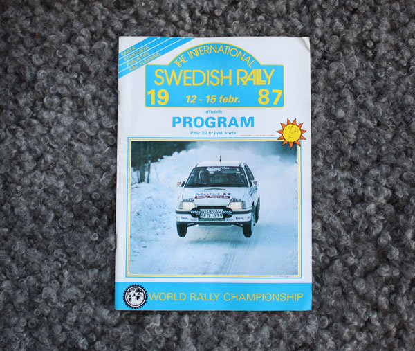Officiellt program Swedish Rally 1987