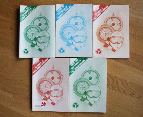 5st publikationer Svenska bilsportsförbundet 88-90
