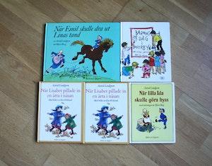 5st Astrid Lindgren Böcker