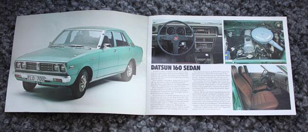 Produktkatalog för Datsun 160