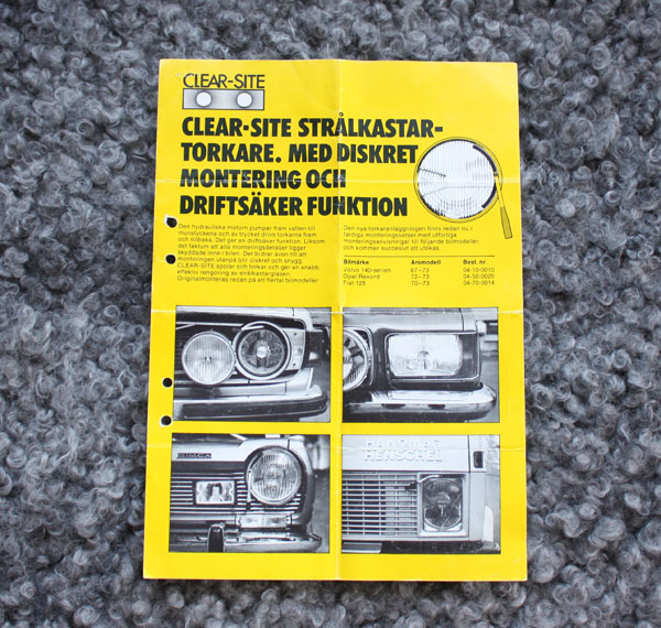 Produktblad Clear-Site torkarblad