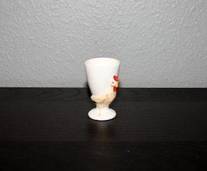 Stor äggkopp - tupp med kopp på ryggen