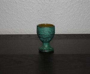 Grön äggkopp från Rhodos