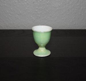 Äggkopp i grönskimrig färg