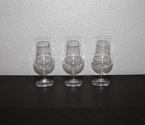 3 st provsmakarglas för whiskey