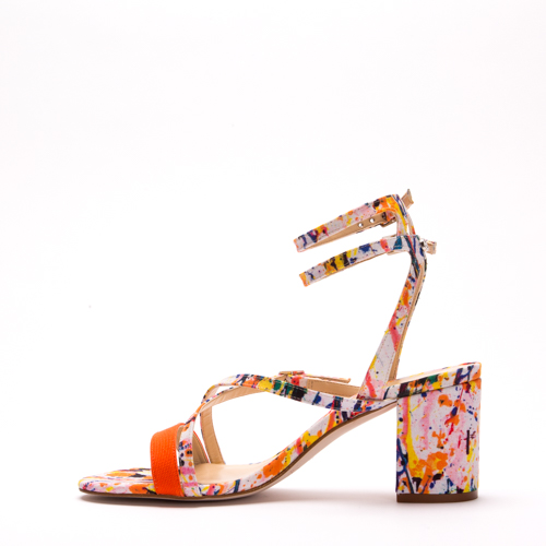 ZORAG multi-colored block-heel in recycled polyester