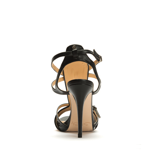 JEUNE stiletto in organic cotton and plantleather