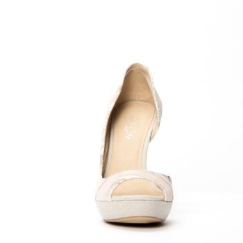 CORNELIA peep-toe with plateau in microsuede