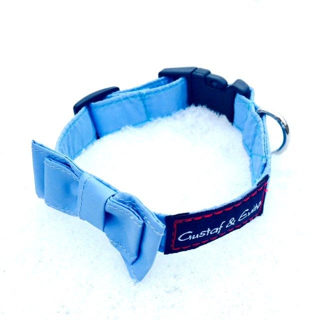 Gustaf & Evita halsband snabbkoppling ljusblå